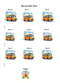 Bus List Template