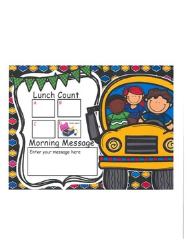 Bus Lunch Count and Morning Message
