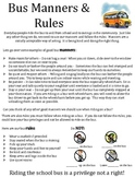 Bus Manners and Rules