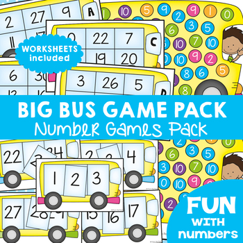 Bus Number Games Pack
