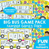 Bus Number Games Pack for Numbers to 30