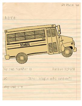Bus Number Worksheet