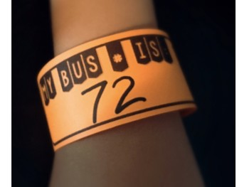 Bus Number Wristbands