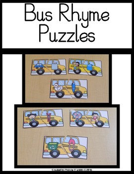 Bus Rhyme Puzzles