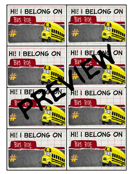 Bus Rider Labels