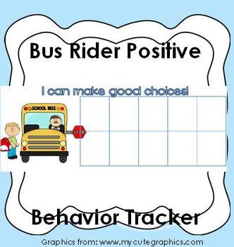 Bus Rider Positive Behavior Incentive Chart