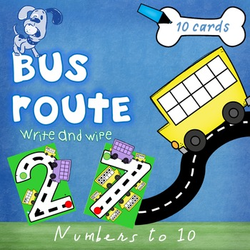 Bus Routes Numbers to 10 Formation Cards