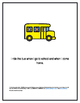 Bus Rules Social Story