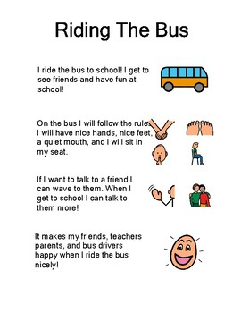 Bus Rules and Social Stories