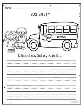 Bus Safety FREEBIE by Josie's Place | Teachers Pay Teachers