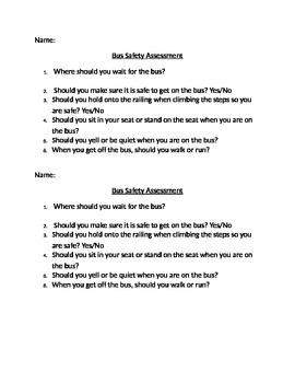 Bus Safety Assessment