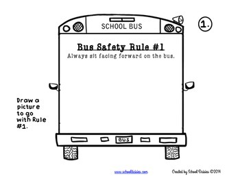 Bus Safety Craftivity for Primary Grades