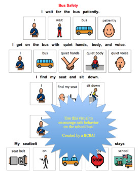 Bus Safety Visual for Children with Autism Spectrum Disorder