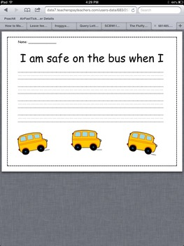 Bus Safety Writing
