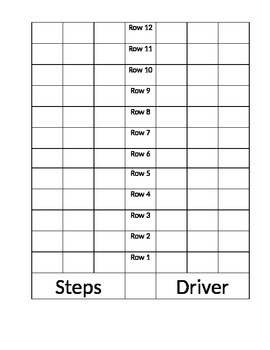 Bus seating chart template by chuda s counseling and character corner
