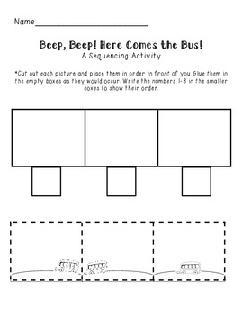 Bus Sequencing Cut and Glue Activity