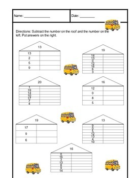Bus Sheet Subtraction