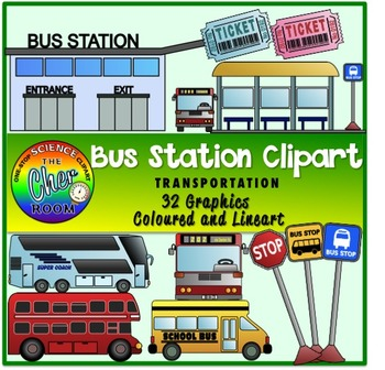 Bus Station Clipart