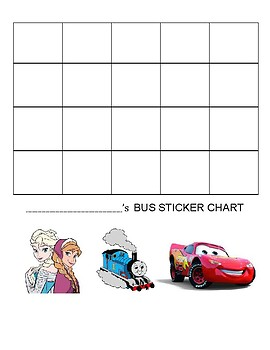 Bus Sticker Chart