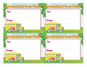 picture relating to Bus Driver Thank You Card Printable identified as Thank Your self Be aware For Bus Driver Worksheets Training