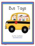 Bus Tags- Freebie