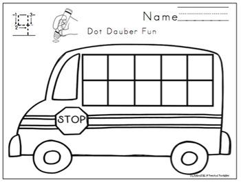 """Bus Theme Center Activities """"No Prep"""""""