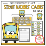 Bus Theme Pre-Primer Sight Word Practice with Keyboard