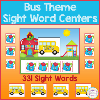 Bus Theme Sight Word Centers
