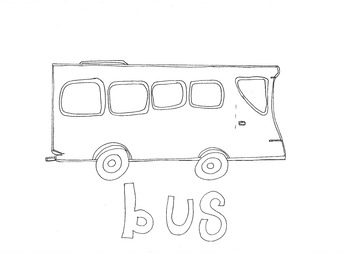 Bus: Transport and Travel: Colouring Page