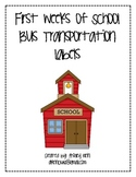 Bus Transportation Labels