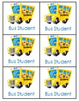 Bus, Walker & After School Backpack Tags
