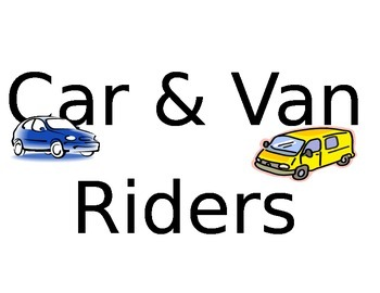 Bus and Car Rider signs