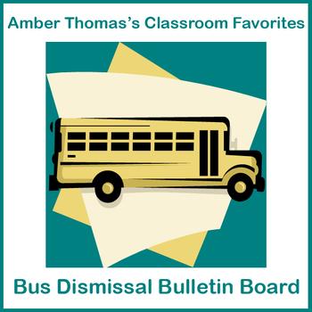 Bus bulletin board cutouts