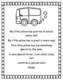 BusDriver Day Thank you Card