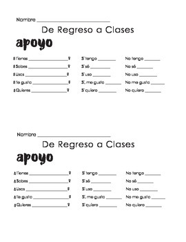 Busca Alguien Quien... Find Someone Who (Spanish Back to School Version)