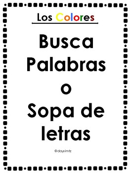 Busca Palabras Word Search