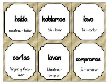 Busca Tesoro - AR verbs