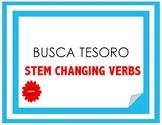Busca Tesoro - stem changing verbs (present tense)
