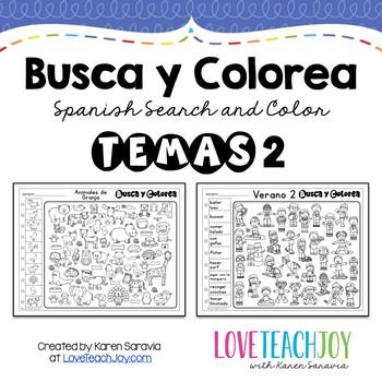 Busca y Colorea: Temas 2 (Themes 2)