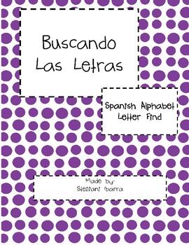 Buscando Las Letras Spanish Alphabet Letter Find