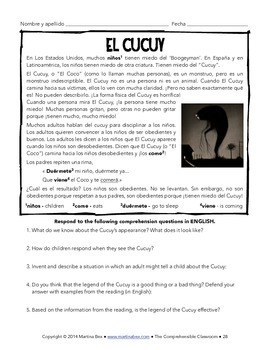 SOMOS Spanish 1 Unit 9: El cucuy