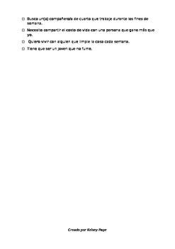 Buscando un comp. de cuarto - Subjunctive in Adjective Clauses
