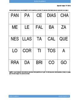 Buscapalabras en Español 5: La ropa en español (1)