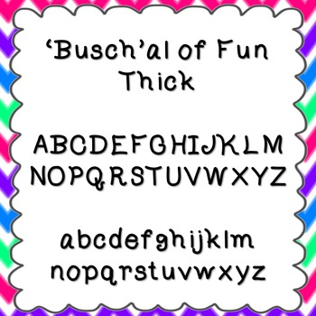 'Busch'al of Fun Thick Font {personal and commercial use; no license needed}