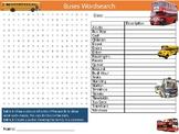 Buses Wordsearch Puzzle Sheet Keywords Public Transport