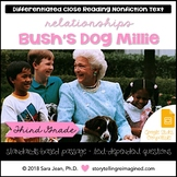 Bush's Dog Millie Reading Comprehension Passage Close Reading & Google Slides