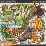 "Bushcraft and Camping Clip Art: ""Tackling Nature"""