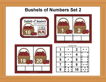 Bushel Basket Counting Mats Set 2