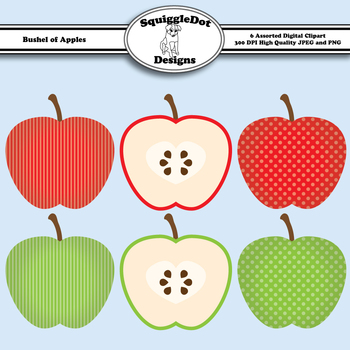 Bushel of Apples Clip Art