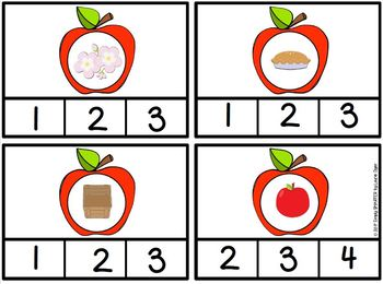 Bushel of Syllables:  LOW PREP Apple Themed Syllable Clip Cards